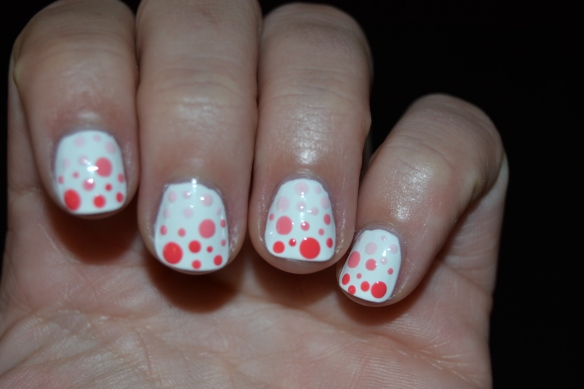 Gradient dotts pink